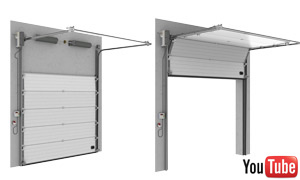 Sectionale garagepoorten industirale high lift