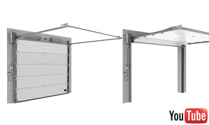 Sectionale garagepoorten industirale standard lift